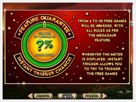 Megasaur has a feature guarantee