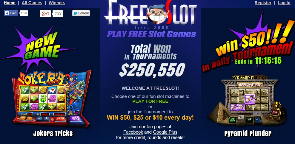 slots for free at freeslot